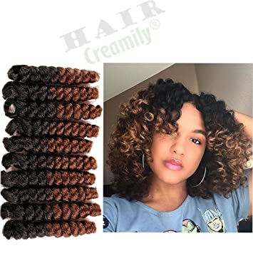 Creamily Curly Braiding Curl Afro Synthetic Hair Extensions Short