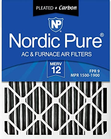 Nordic Pure 21x22x1 Exact MERV 12 Pleated AC Furnace Air Filters 1 Pack