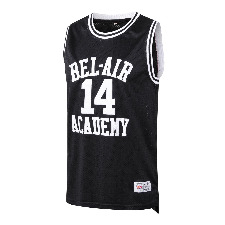 03e4e536787b Amazon.com  MM MASMIG Will Smith 14 The Fresh Prince of Bel Air Academy  Basketball Jersey S-XXL Black (XL