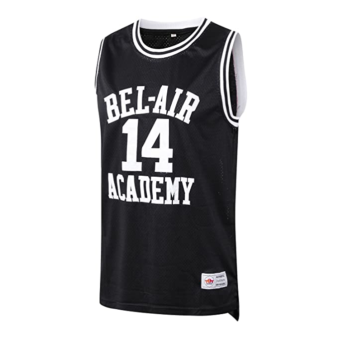 975850bc468c MM MASMIG Will Smith 14 The Fresh Prince of Bel Air Academy Basketball  Jersey S-