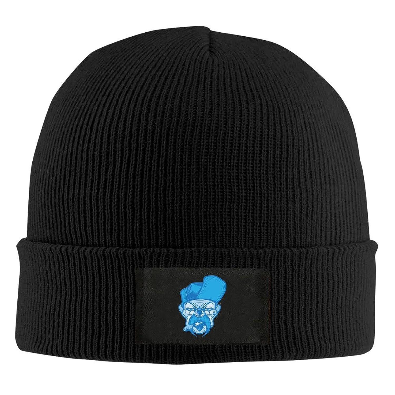 YFLLAY A Blue Clown Knit Cap Woolen Hat For Unisex