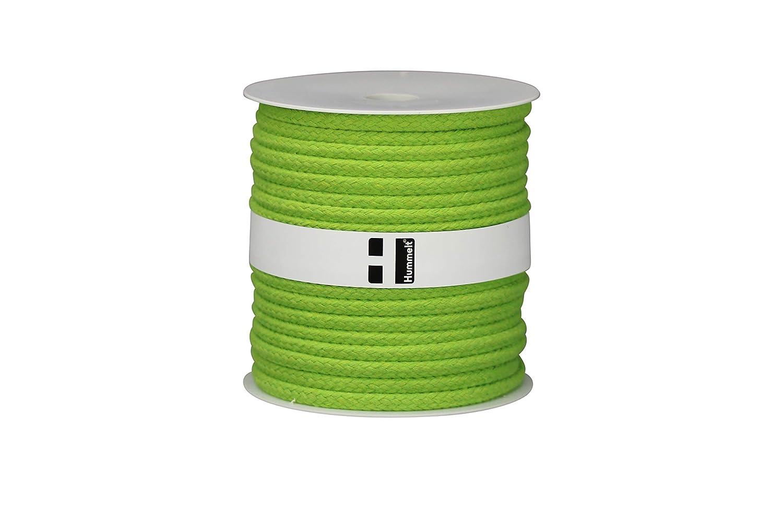Hummelt/® SilverLine-Rope Baumwollseil Baumwollkordel H auf Rolle 8mm 40m rot Natur beige