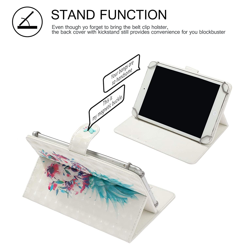 Amazon com: 8 Inch Tablet Universal Case, Cookk Folio Stand