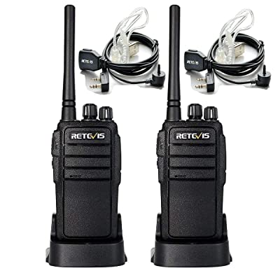 Retevis RT21 Walkie Talkies for Adults Long Range Rechargeable UHF FRS 16CH VOX Scan Security Two Way Radio with Earpiece for Camping Hunting(2 Pack)