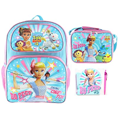 Toy Story 4 Bo Peep 16 inch Deluxe Backpack, Insulated Lunch Bag, Notepad and Pen!