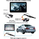 7 Inch GPS SAT NAV DEVICE WITH WIRELESS REVERSE CAMERA FOR CAR SPEED CAMERA, Free Map Update, with Bluetooth/AV-IN (Input for Reversing Camera or AV Drive Free Sun Protection. Immediate delivery from Germany. Electronics MASTER