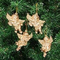 Kikajoy Melek Şekilli Altın Lüks Yılbaşı Ağacı Süsü