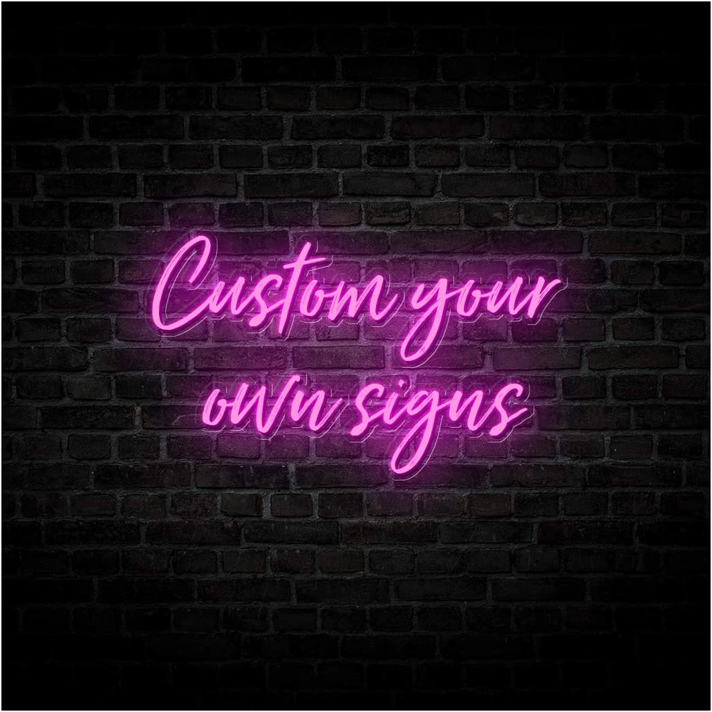 Britrio Custom LED Neon Sign Light Personalized Design Handmade Neon Art Wall Decor for Wedding Backdrop Party Home Bedroom Bar 12V Indoor Use 2-Lines Text 35 inch(Power Adapter Include)
