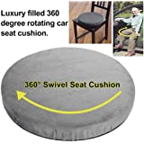 Lucky-all star 360/° Rotating Pain Relieving Seat Pad Comfortable Memory Foam Non-skid Cushion for Cars Office Chairs Home Deluxe 360/° Swivel Pivot Disc Seat Cushion