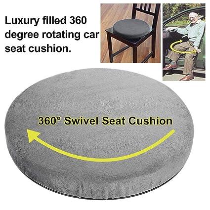 evergremmi Ayuda de Movilidad de Asiento de automóvil de cojín Giratorio de Espuma cómoda de Memoria giratoria 360, Disco de rotación Grande de 360 ...