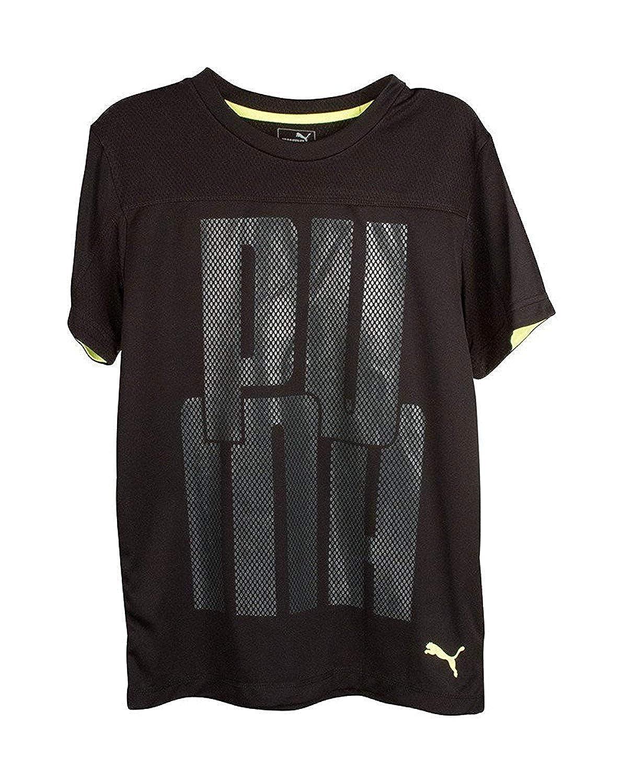 PUMA Black Boys Logo T Shirt