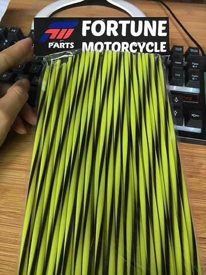 ZARRS Spoke Skins Covers,72 Pack Wheel Motocross Spoke Skins Rims for Dirt Bike Mountain Bicycle Motorbike Decoration KTM EXC ATV 24CM Green