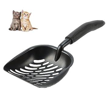 Gemeinsa Pala para Arena de Gato de Aleación de Aluminio Sólido Pala de Basura para Gatos Scooper con Mango Largo Flexible (Negro): Amazon.es: Productos ...