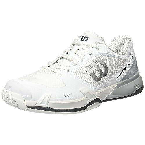 pretty nice 88e8f 05b0a Wilson Men s Rush Pro 2.5 Tennis Shoes, (White Pearl Blue Iron Gate