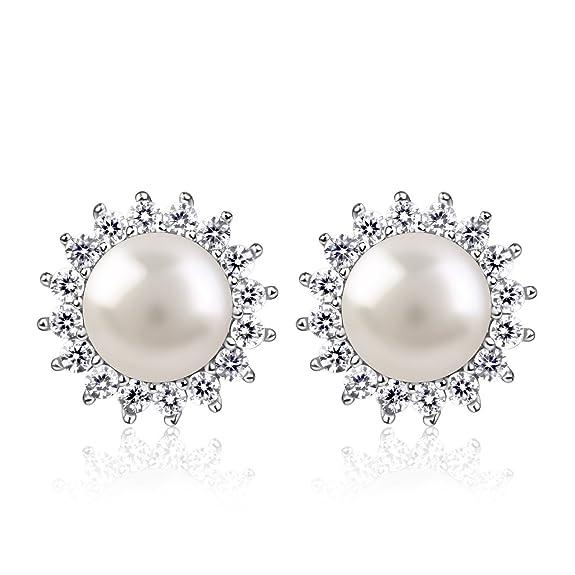 9 opinioni per B.Catcher Orecchini girasole con? perla