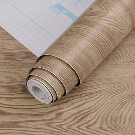Lsaiyy Pvc Wallpaper Self Adhesive Wood Grain Background