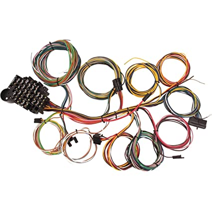 amazon com 22 circuit universal street rod wiring harness w rh amazon com Universal Wiring Harness Kit 460 Ford OMC Wiring Harness