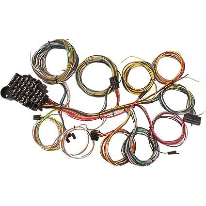 amazon com 22 circuit universal street rod wiring harness w rh amazon com hella wiring harness instructions hella wiring harness instructions