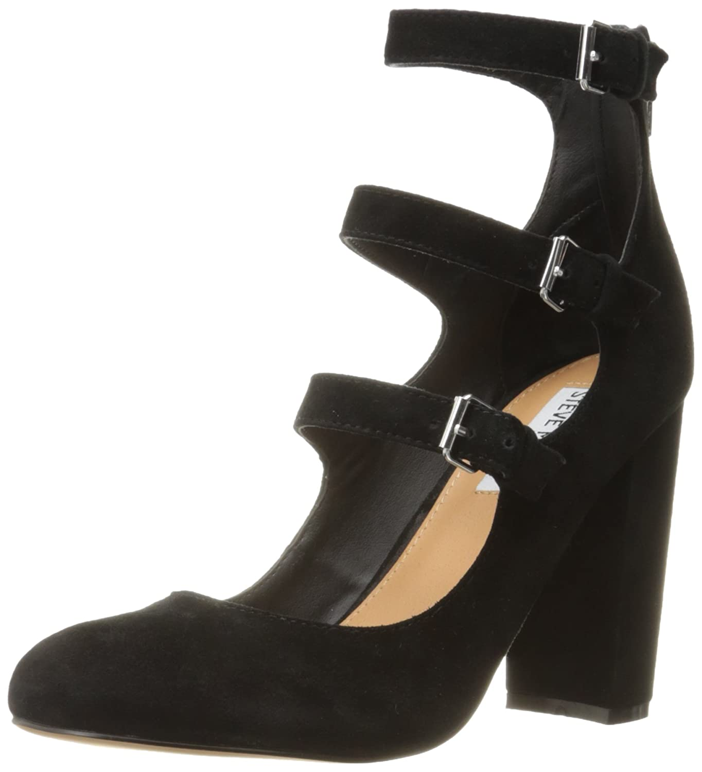 Amazon.com | Steve Madden Women's Veruca dress Pump, Black Suede, 8.5 M US  | Pumps