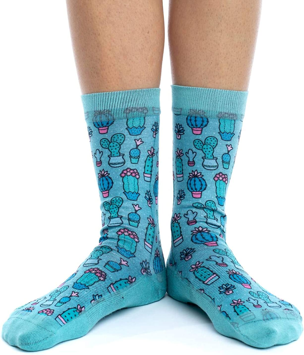 Mens athletic low cut Ankle sock Cactus Flower Short Fit Sock
