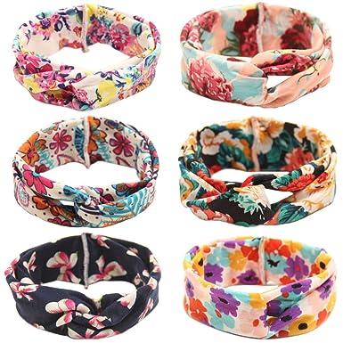 YASSON Lot de 5 Bandeau Cheveux Bébé Fille Elastique Floral Nœud Serre-Tête  Lapin Oreille 3c87e1a1c35