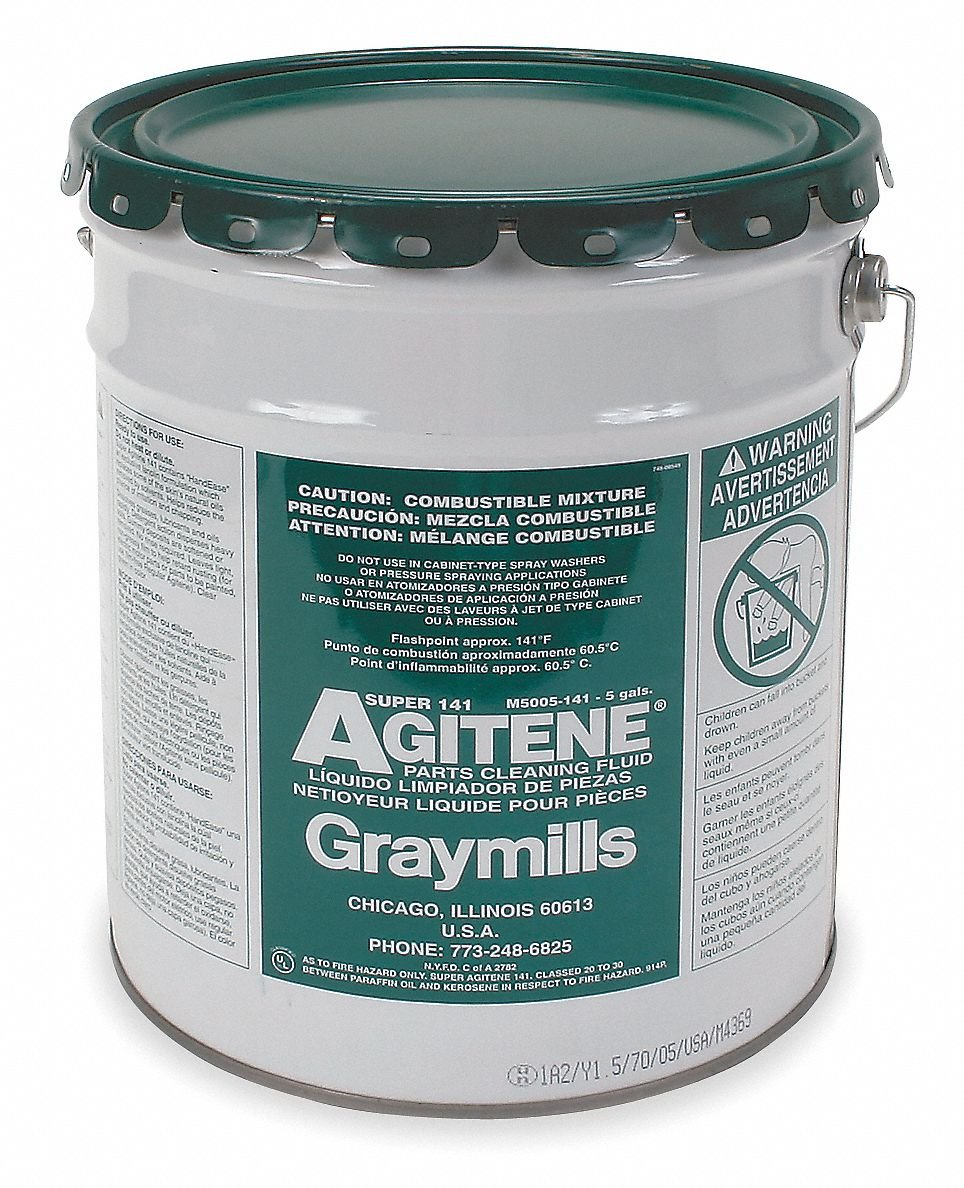 Graymills M5005-141 5 Gallons Cleaning Solvent Super Agitene 141