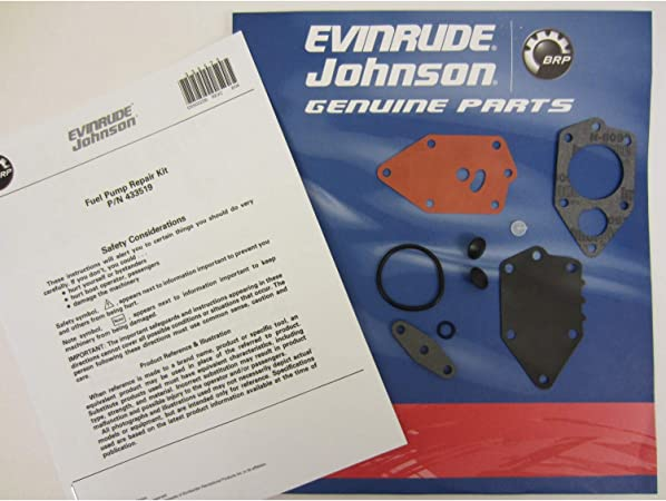 New Fuel Pump Kit for 9.9-125HP Outboards Replaces OMC 433519 438616 18-7800