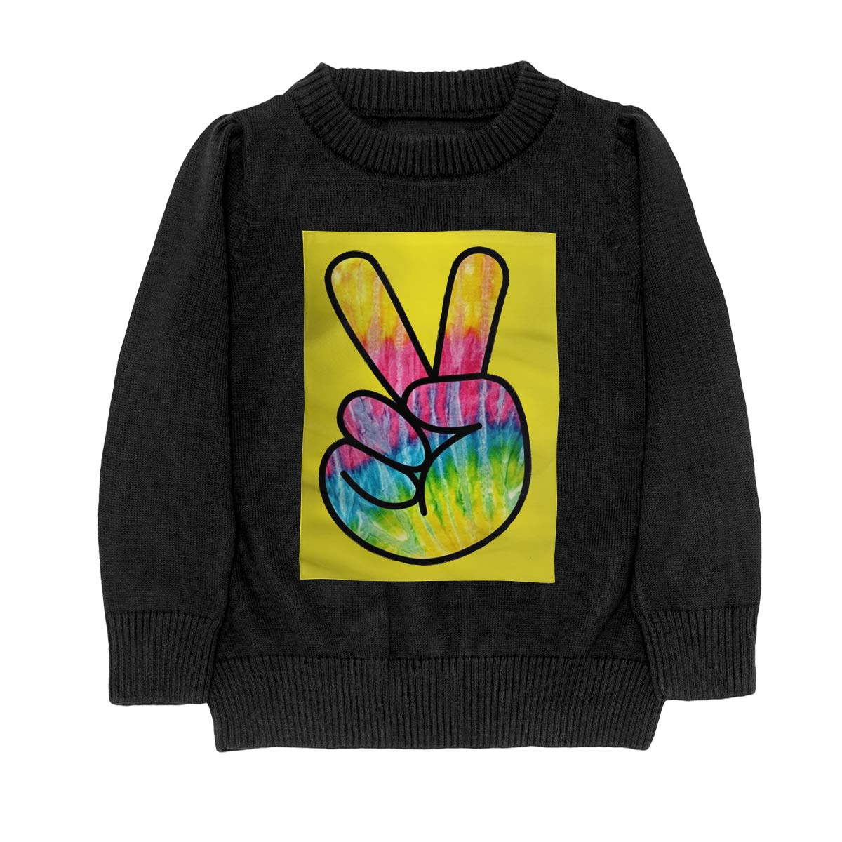 WWTBBJ-B Tie Dye Psychedelic Peace Sign Casual Teenager Boys /& Girls Unisex Sweater Keep Warm