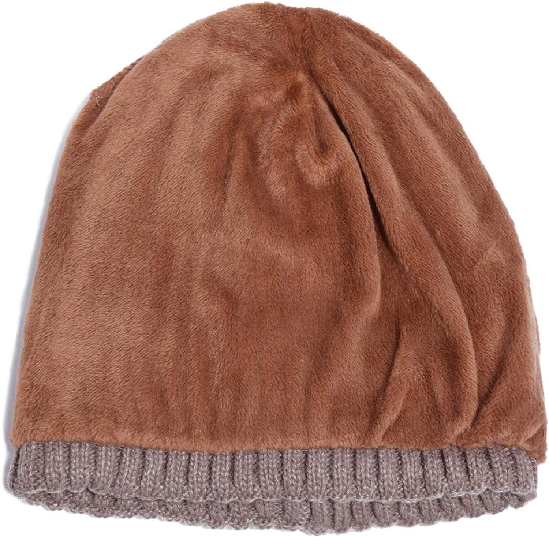 Double Layer Wool Knitted Hat Warmer Winter Hat for Men Women Skullies Beanies Warm Fleece Caps