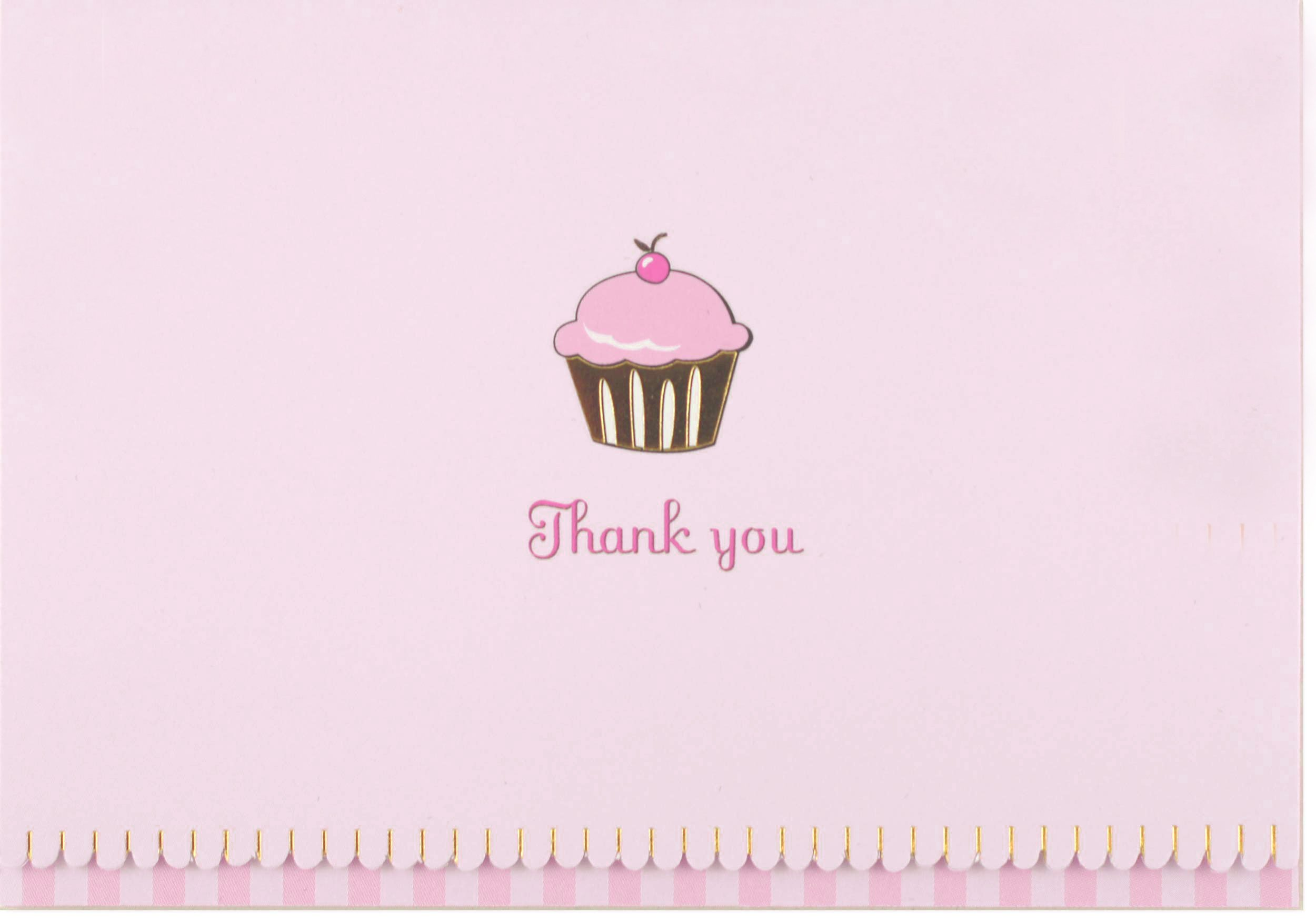 Cupcake Thank Notes Stationery Cards product image