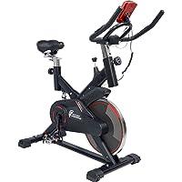 CENTURFIT Bicicleta Fija Spinning Fitness Indoor Gimnasio Gym Excelente Calidad Disco Rueda de 8kg Ejercicio Casa Oficina