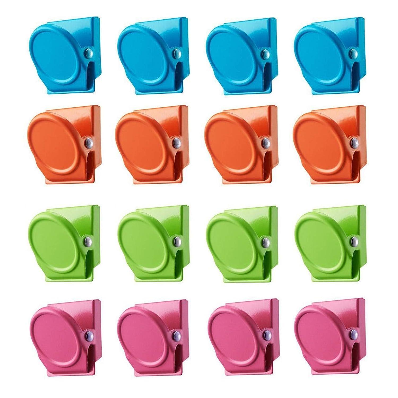 16Pcs Magnetic Metal Clip,Magnetic Clips Refrigerator Magnet Refrigerator Whiteboard Wall Magnetic Memo Note Clip Metal Clip. Bingolar