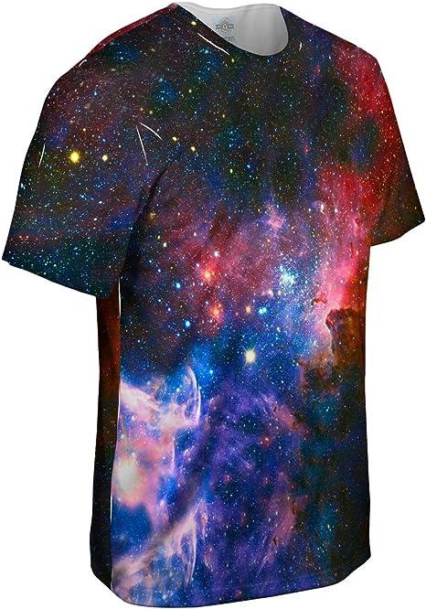 Yizzam- Camiseta para Hombre de Carina Nebula Space Galaxy