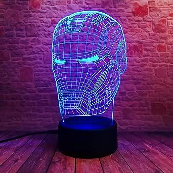 Máscara de personaje de película Mesa de luz LED 3D Luz de noche ...