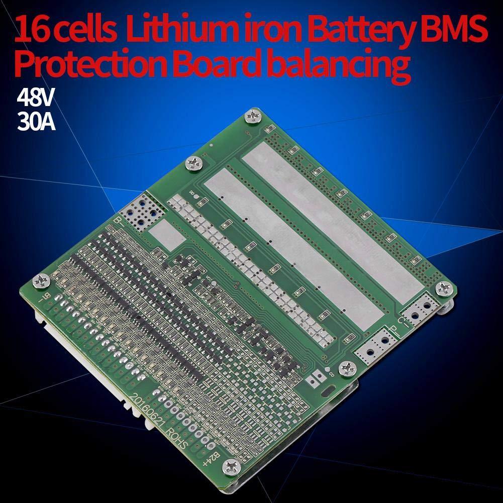 Lithium Polymer Batterie BMS Schutzplatine 30A 16S 48V LiFePO4 60V mit Balancing