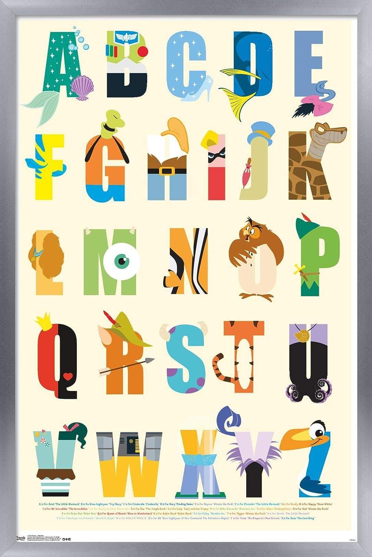 Trends International Disney Alphabet Wall Poster 22 375 X 34