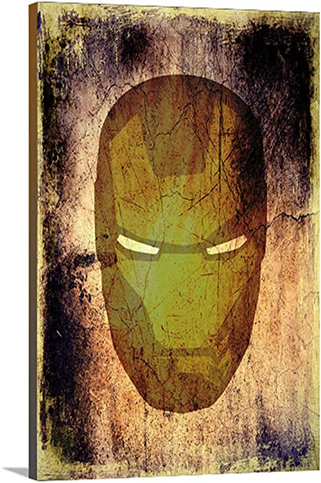 Amazon Com Artzee Designs Home Decor Canvas Ready To Hang Gift Idea Marvel Inspired Iron Man Abstract Wall Art For Kitchen Living Room Bedroom Hallway 16 X20 16 X 20 Multicolor Posters Prints