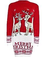 Unisex Christmas Characters Rudolf Reindeer Penguin Xmas Christmas Jumper Sweater Top