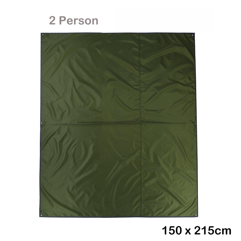 Topnaca 2 3 4 persona espesan Oxford funda de tela de lona de camping refugio tienda de campaña lona toldo impermeable para tienda de campaña manta Mat para pesca PLAYA senderismo mochila, 2 Person … 2 Person ...