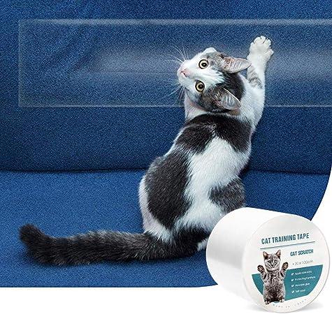 Cinta anti-arañazos para gatos, Cinta de entrenamiento para gatos anti-agarre, Funda protectora para muebles Sofá de protección contra garras de gato, Pared, Puerta Disuasor de arañazos para gatos: Amazon.es: Hogar