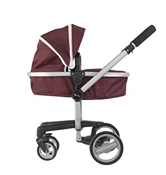 Silver Cross 3 In 1 Front Or Rear Facing Fabric Pram Tilt To Convert