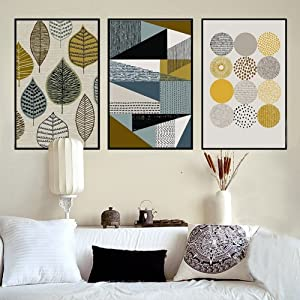BrawljRORty Wall Decor Picture Home Decor Leaves Geometry Home Modern Canvas Wall Art Painting Living Room Decor (Great for Kids, Adults, Classrooms, and Families!) - 2# 3040cm