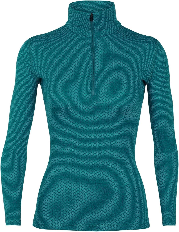 Icebreaker Merino Women's Vertex Heavyweight Base Layer Half Zip Pullover Top, Merino Wool