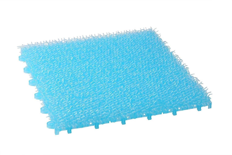 ワタナベ工業 スケルトン タイプ やわらか 人工芝 クリア ターフ ブルー 18枚入り B01DJ2R77E 11059