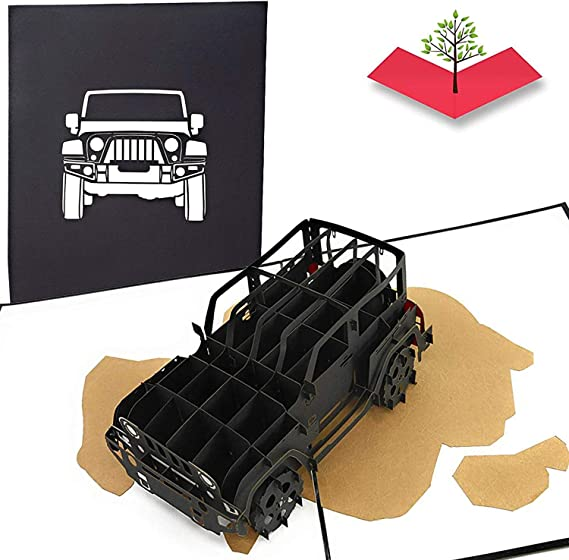 Jeep Truck Pop Up Card - Gift for Jeep Lovers