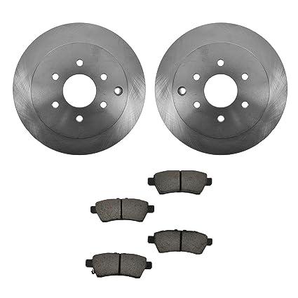 Rear Ceramic Brake Pad Set /& Rotor Kit for 2005-2012 Nissan Pathfinder