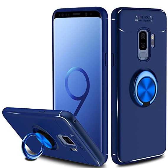 newest 147b0 eb24e Liwarace Galaxy S9 Plus Case with Ring Holder Kickstand, 360 Degree  Rotatable Ring Stand Fit Magnetic Car Mount Slim Soft TPU Protective Case  Cover ...