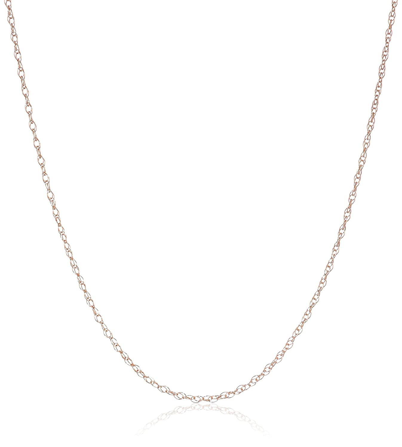 14k Lightweight Double Link Chain 0.8mm Chain Necklace 18 Amazon Collection SK4118-18PKA