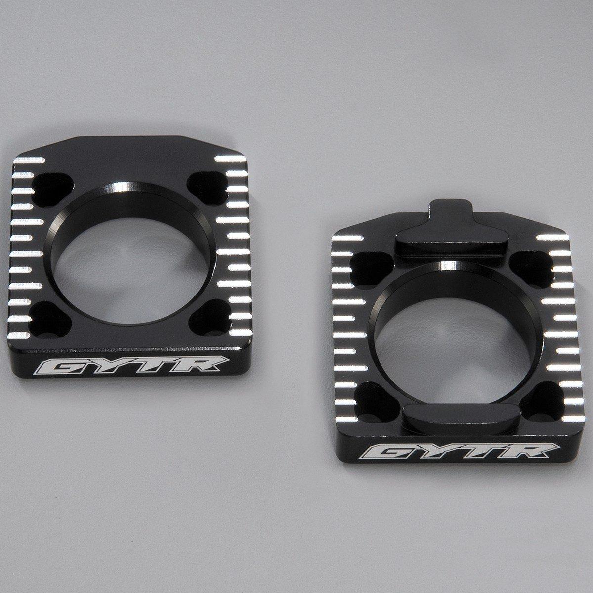 YAMAHA GYTR BILLET OFFSET AXLE BLACK BLOCKS YZ450F '10-'18-YZ250F '11-'18 33DF53M0T000