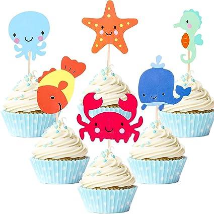 72 decoraciones náuticas para cupcakes, para decoración de ...